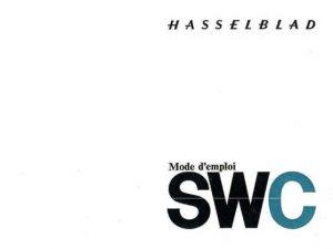 MODE D'EMPLOI HASSELBLAD SWC