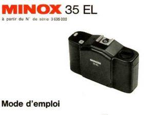 MODE D'EMPLOI MINOX 35-EL