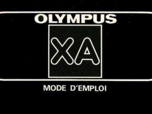 MODE D'EMPLOI OLYMPUS XA